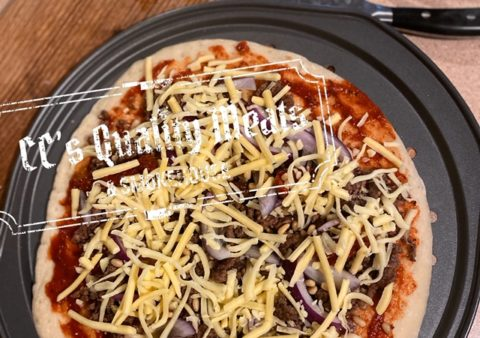 Middle Eastern Beef & Pine Nut Pizzas
